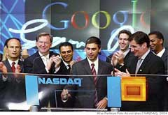 Investing in Google stock. Google is listed on NASDAQ.